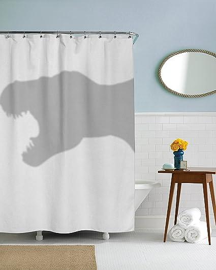 Shower Curtain Funny Dinosaur Trex Curtains Standard