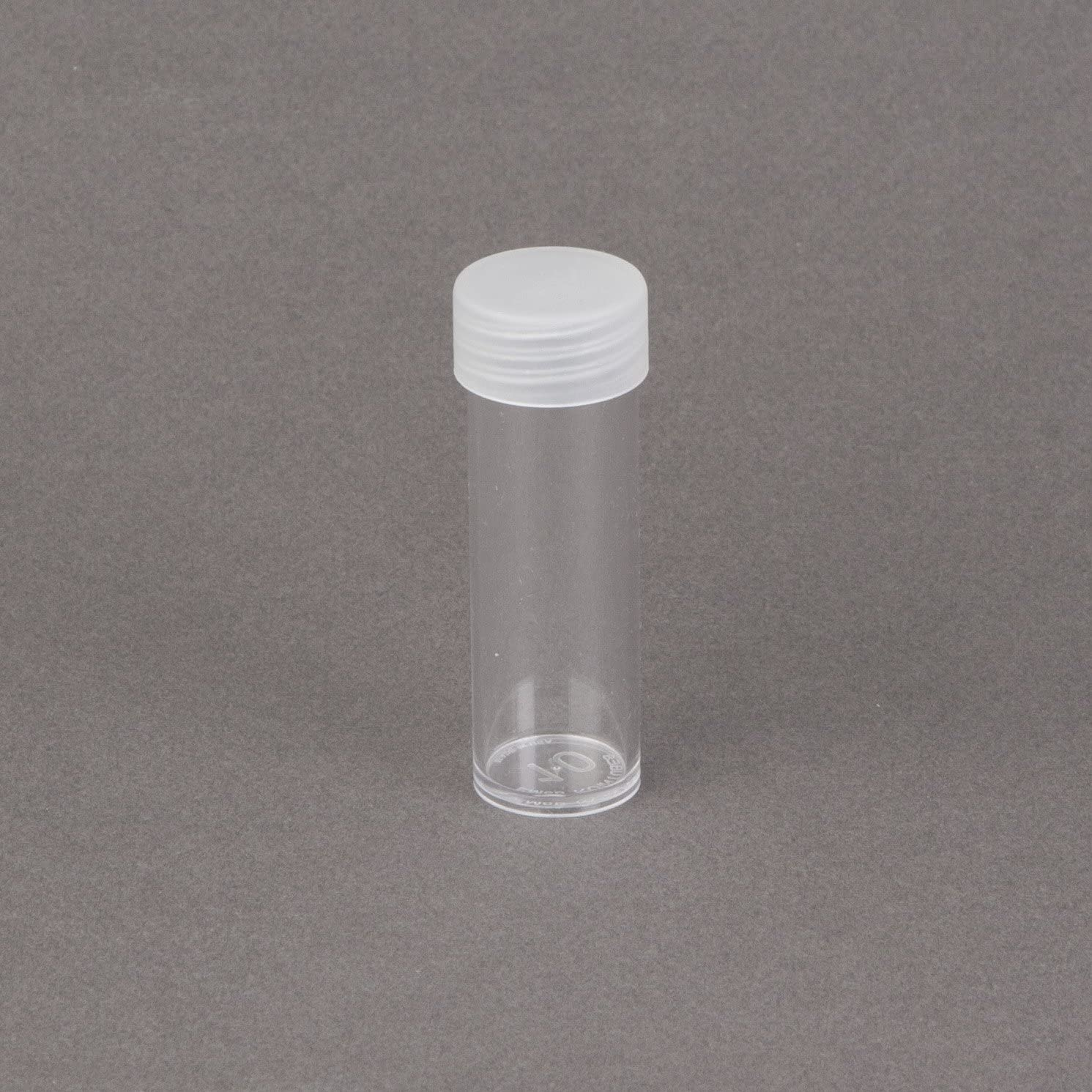Lot of 10 Round Plastic Coin Storage Tubes for Pennies w//Screw On Caps