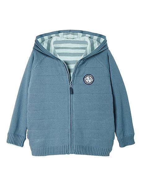VERTBAUDET Chaqueta niño reversible de punto tricot Azul Grisaceo 6A: Amazon.es: Ropa y accesorios