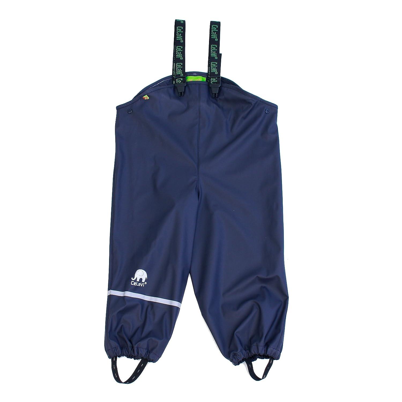 Celavi - Rainwear Overall -Solid, Pantaloni impermeabili Bambino, Blu (Dark Navy), 120 cm 4005