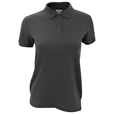 Gildan DryBlend Ladies Sport Double Pique Polo Shirt (S) (Charcoal) c30b8ab889