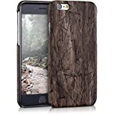 kwmobile Hard case Design vintage wood for Apple iPhone 6 / 6S in dark brown