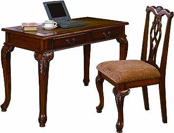 Shop Queen Anne Desk Chair Set Free Shipping Today >> Crown Mark Fairfax Home Office Desk Chair Set