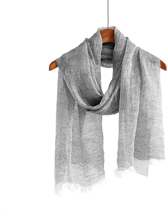 Womens Fashion solid cotton//linen-style fabric scarf  Ladies Wear  UK Stock