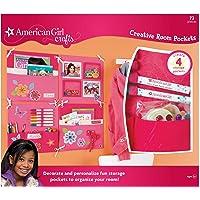 American Girl Crafts Girls Room Decoration and Organization Storage Pockets, 72pc