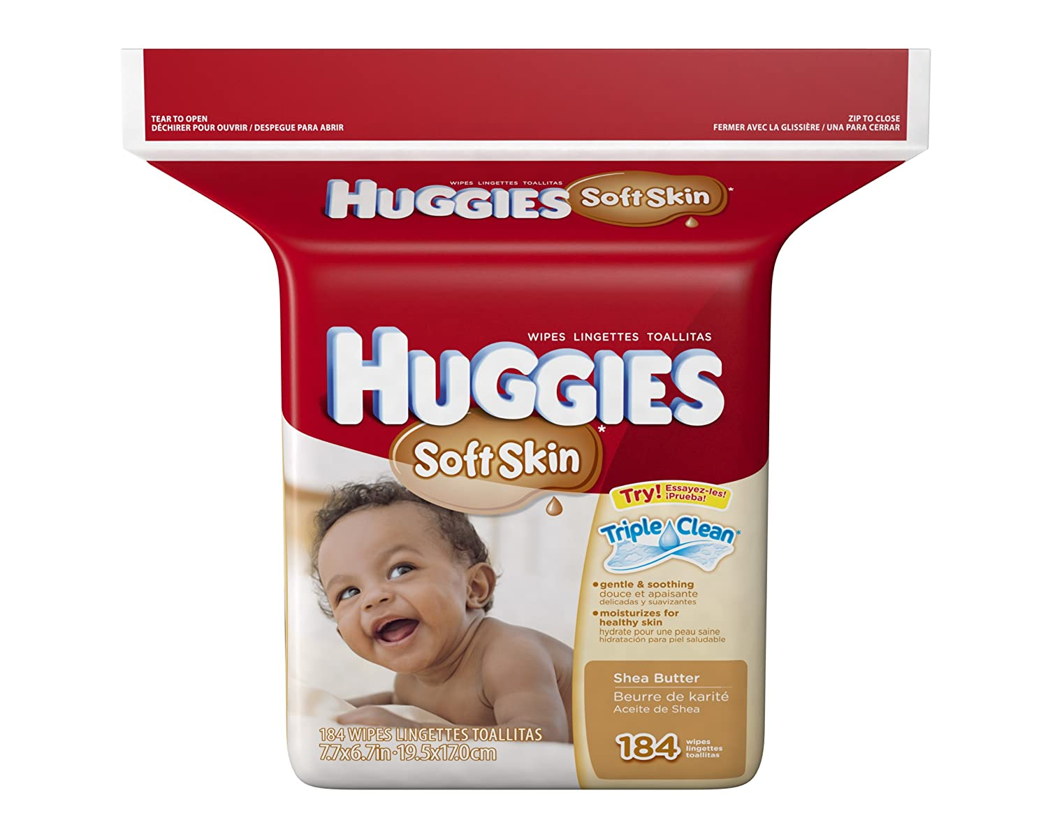 Amazon.com: Huggies Soft Skin Baby Refill Wipes, 184 count: Health & Personal Care