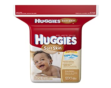 Huggies Soft Skin Baby Refill Wipes, 184 count
