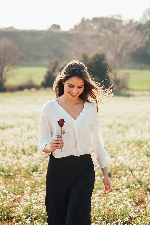 optionale Gravur Kundenspezifische Verschiedene Farben Eisen Schmiede ewige Rose von Hand geschmiedet