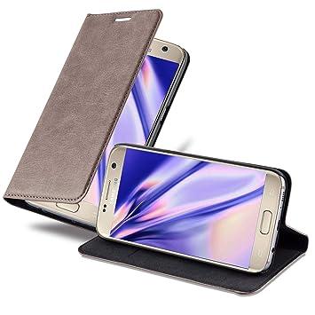 Cadorabo Funda Libro para Samsung Galaxy S7 en MARRÓN CAFÉ – Cubierta Proteccíon con Cierre Magnético, Tarjetero y Función de Suporte – Etui Case ...