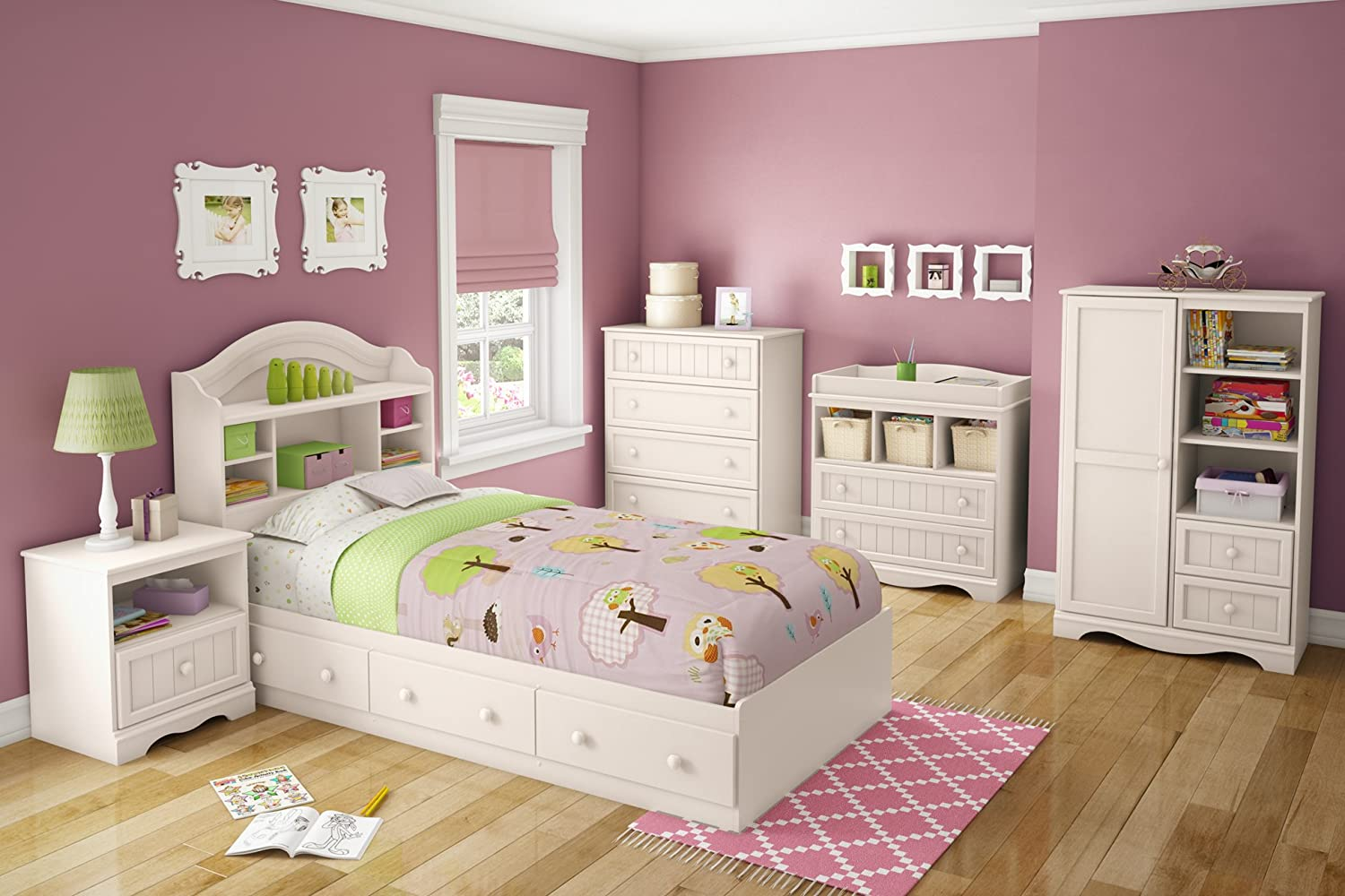 Superior Amazon.com: South Shore Savannah Collection Twin Bed, Pure White: Kitchen U0026  Dining