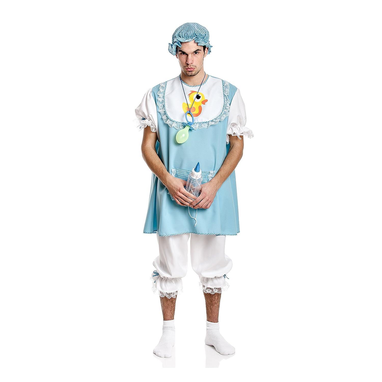 Kostümplanet Baby-Kostüm Herren mit Mütze blau Baby Junge Bube Größe 48/50
