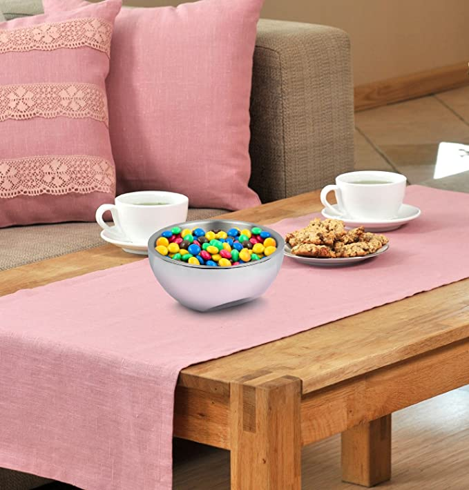 Amazon.com | Estilo Stainless Steel Nut and Candy Dish, Dual Angle ...