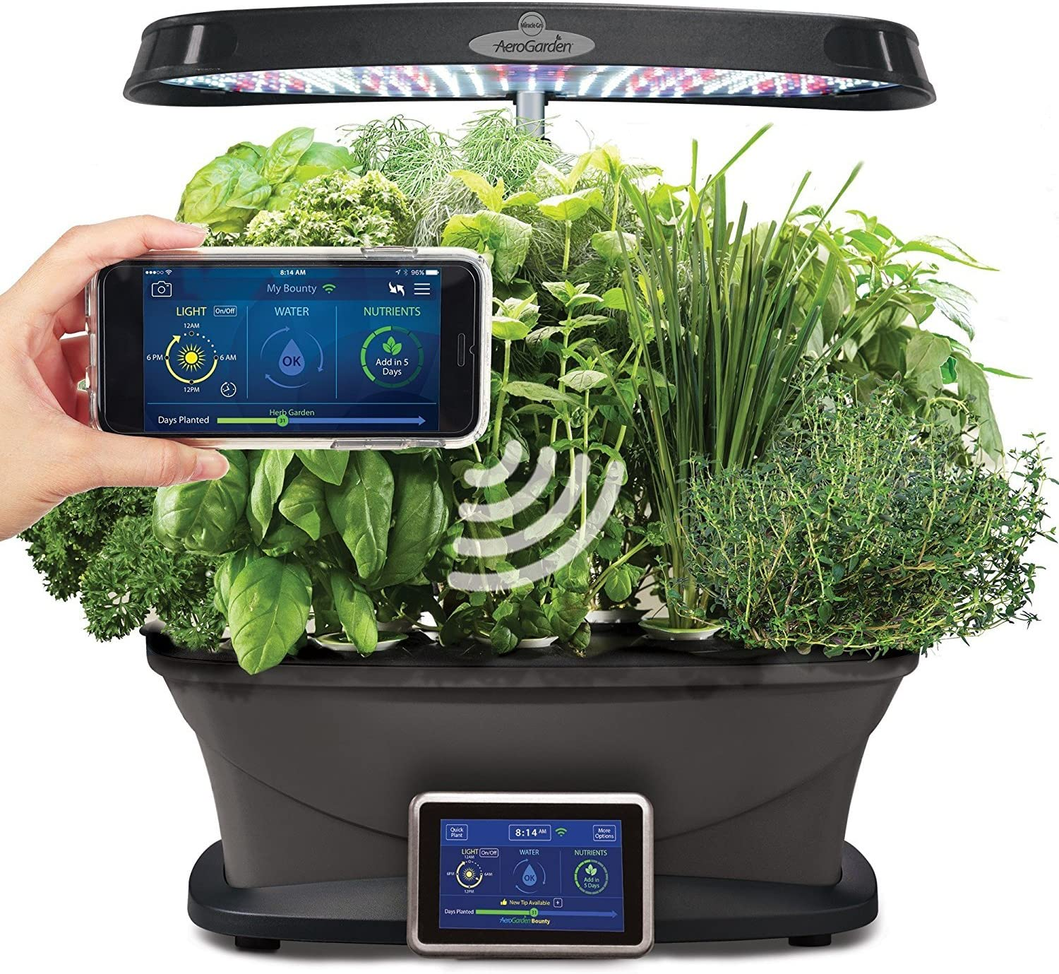 AeroGarden 3-3 Bounty WiFi, Black