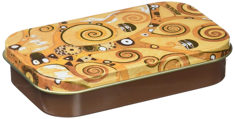 Fridolin 19421Klimt Tree of Life Colorful Mini Metal Box 10x 6.2x 2cm