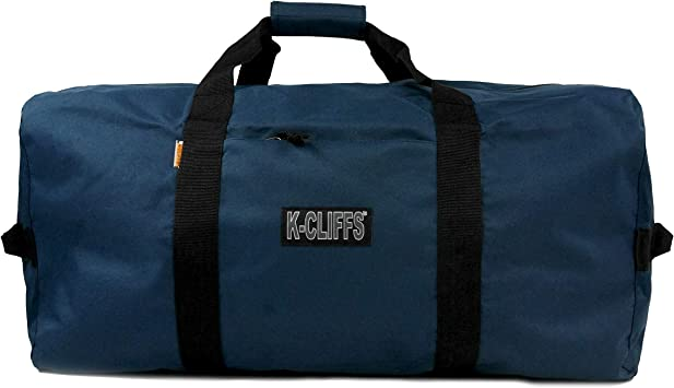 Heavy Duty Cargo Duffel Gear Bag Equipment Bags Square Sport Duffel Travel Bags 21 Inch Navy