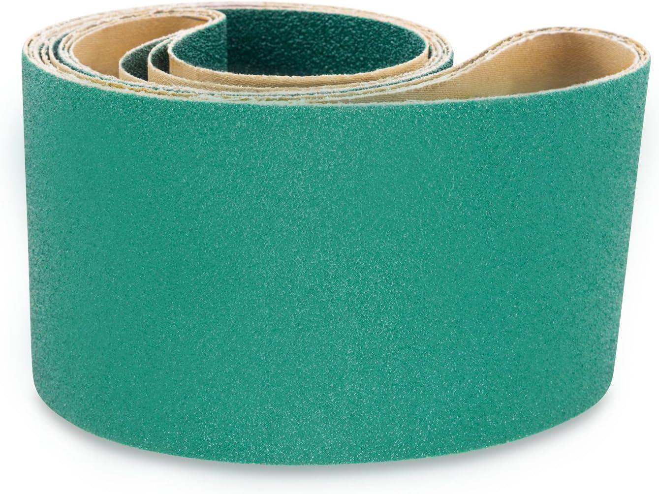 "80 Grit- 4 PACK 6/"" X 48/"" Inch A//O Metal Wood Sanding Belt Kit COARSE 36 40 60"