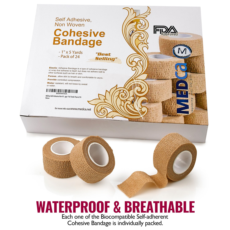 Amazon Medca Self Adherent Cohesive Wrap Bandages 1 Inch X 5