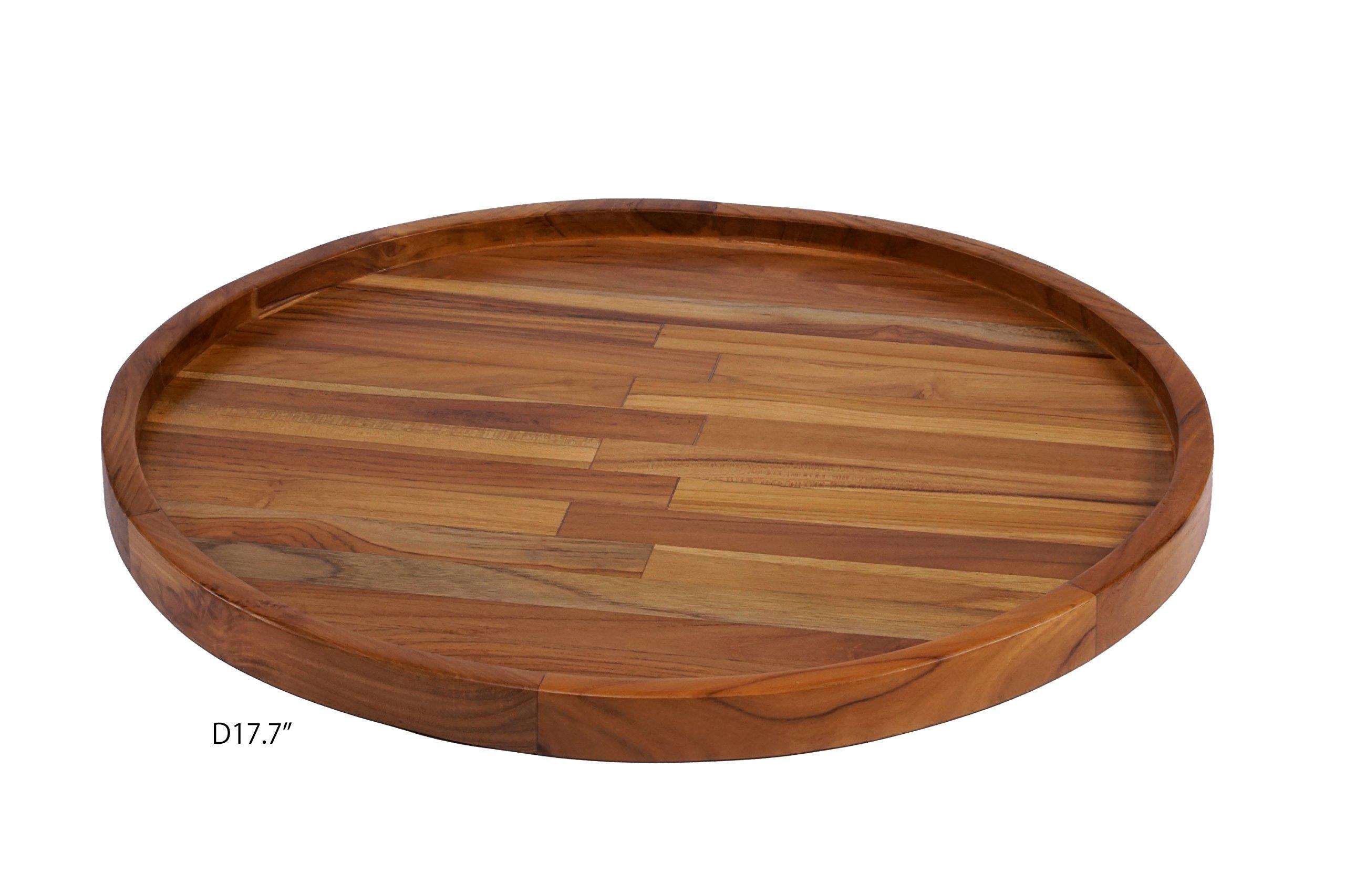 Nesting round trays (set of 3), Teak Wood, Susans