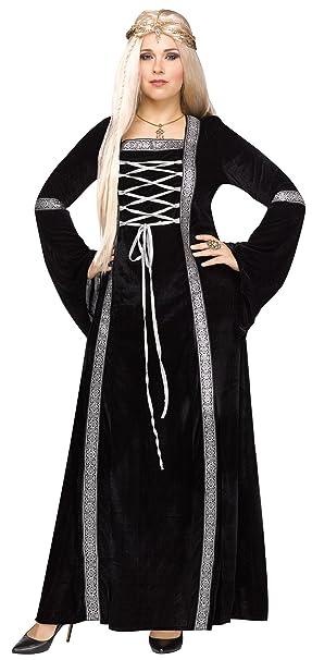 Winter Queen Black Renaissance Dress Adult Women\'s Costume Plus Size 1X-2X  Games