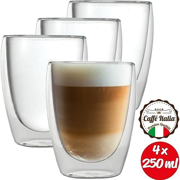Juego de vasos de cristal doble DUOS (4 vasos x 400 ml), vasos té ...