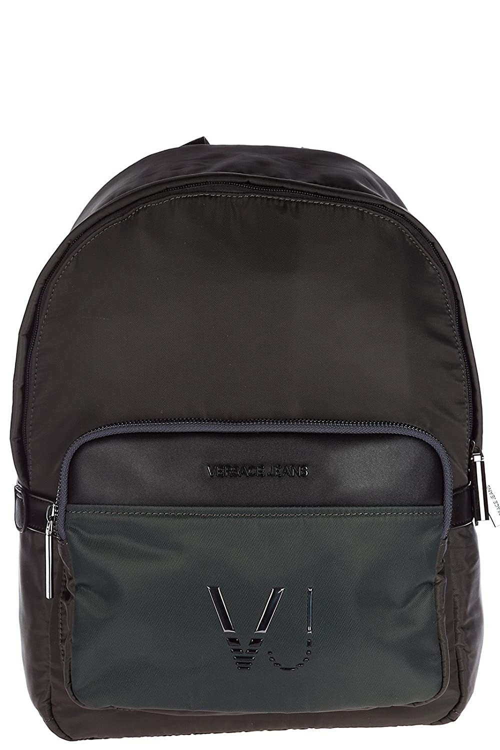 d82ea0eaacd Versace Jeans men s Nylon rucksack backpack travel logo vj green  Amazon.co. uk  Shoes   Bags