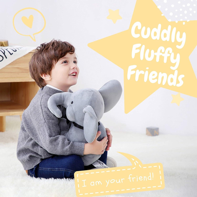 Elephant Star Projector Night Light for Kids Plush Elephant Stuffed Animal Elephant Gifts for Bedroom Ceiling INNObeta Elphy Grey