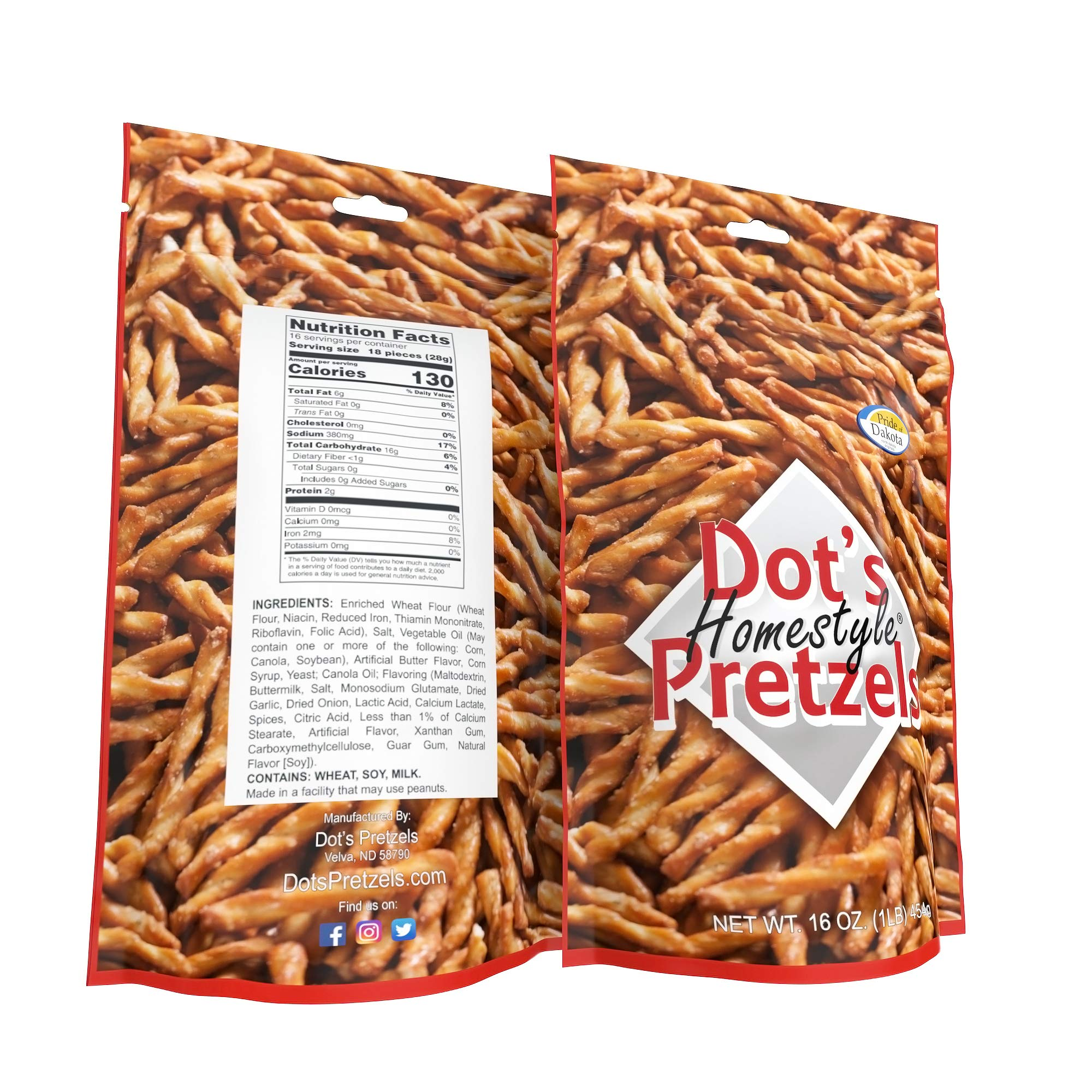 Dot's Homestyle Pretzels 1 lb. Bag (5 Bags) 16 oz. Seasoned Pretzel Snack Sticks (Packaging May Vary) by Dot's Homestyle Pretzels (Image #7)