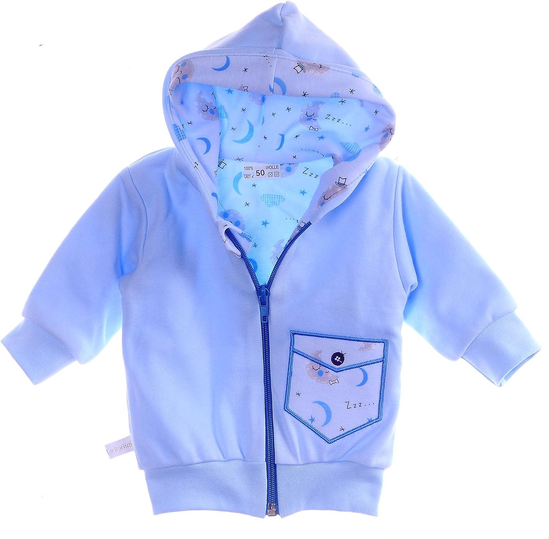 La Bortini Jacke leichtes Baby Jackchen 50 56 62 68 74.98 Fr/ühjahr Sommer Pulli Sweatjacke