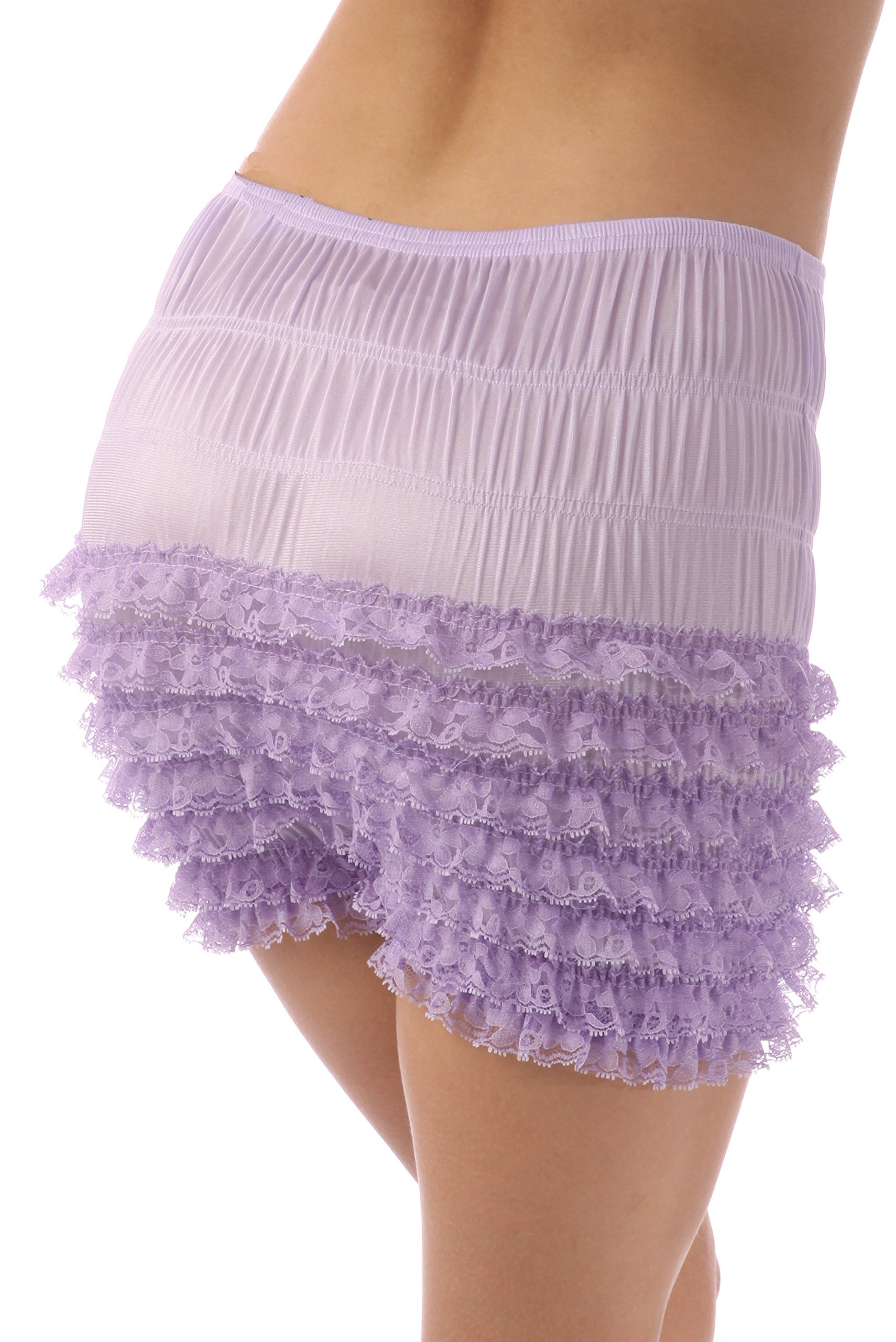 Malco Modes Womens Sexy Ruffle Panties Tanga Dance Bloomers Sissy Booty Shorts (X-Large, Lilac) by Malco Modes