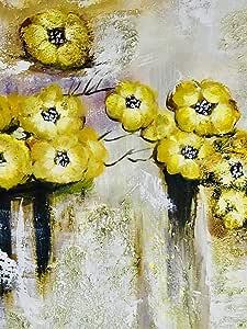 اللوحة | الأزهار | ديكور المنزل | اللوحات اليدوية مع الإطار | لوحة زيتية يدوية | قماش حائط - حجم L80 X H80 سم