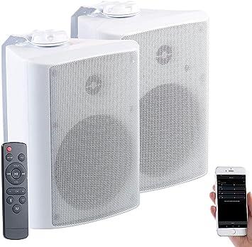 Auvisio – Altavoz para exteriores: activo de Multi Room estéreo exterior de altavoz, WiFi, Bluetooth, 120 W, IP55 (Altavoces exterior con Bluetooth): Amazon.es: Electrónica