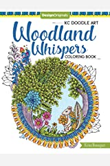 KC Doodle Art Woodland Whispers Coloring Book Paperback