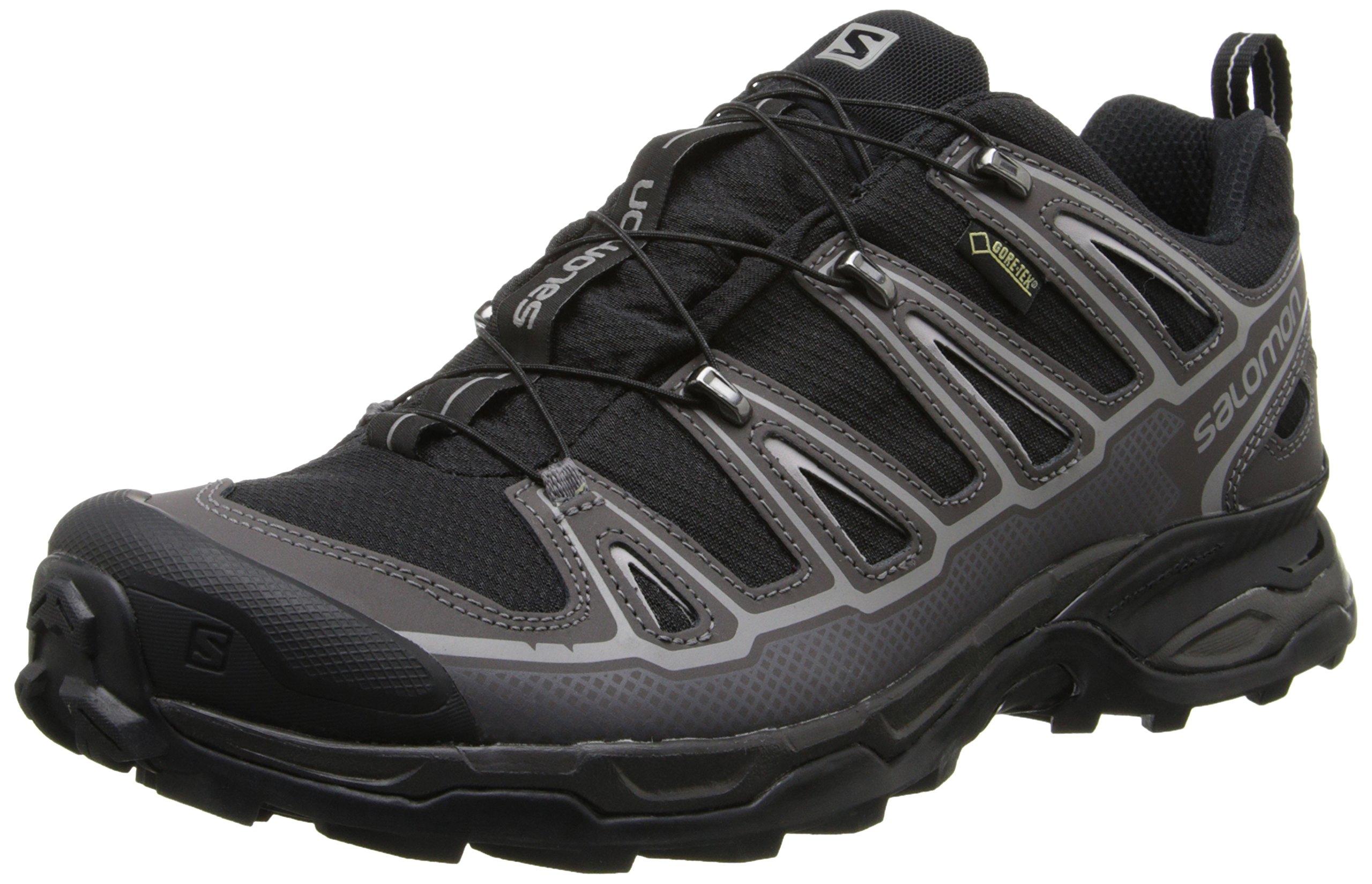 Salomon Men's X Ultra 2 GTX Hiking Shoe, Black/Autobahn/Aluminum, 7 M US
