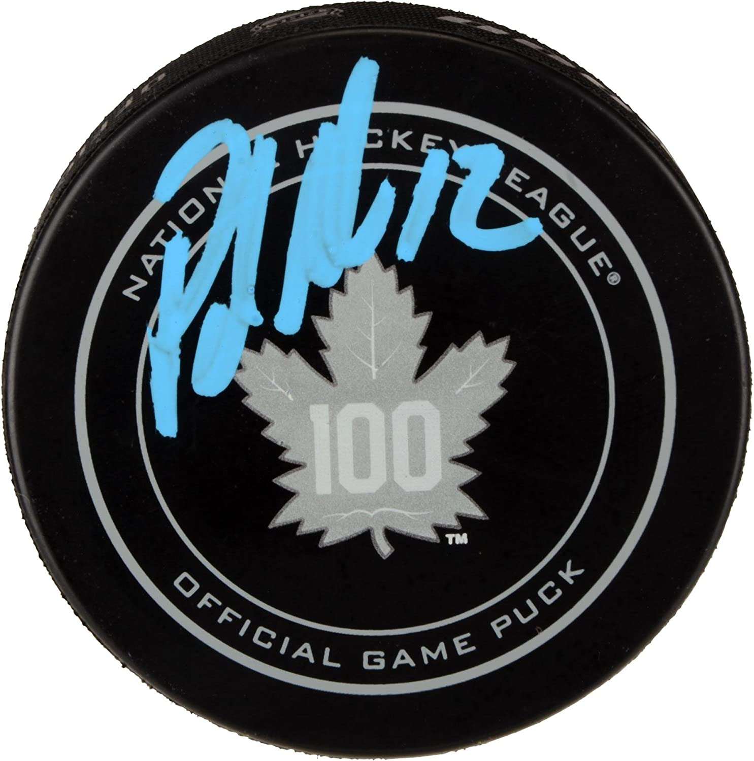 Fanatics Authentic Certified Patrick Marleau Toronto Maple Leafs Autographed 100th Anniversary Season Official Game Puck