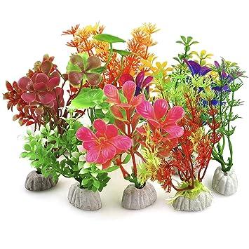 DIGIFLEX 10 x Plantas Artificiales Mezcladas de Plástico para Acuario