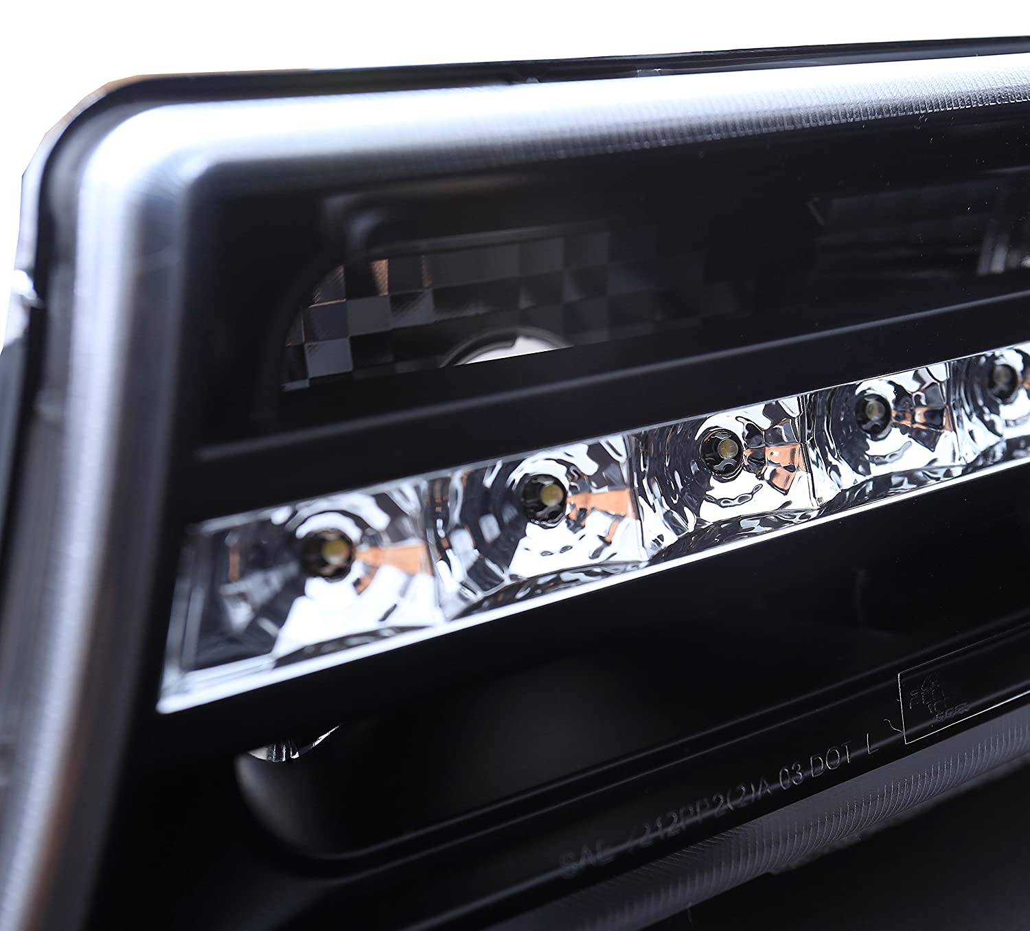 Sppc Black Parking Lights For Chevy Silverado Pair 1997 Cargo Light Wiring Bumper Led Driver Left And Passenger Right Side Replacement Automotive