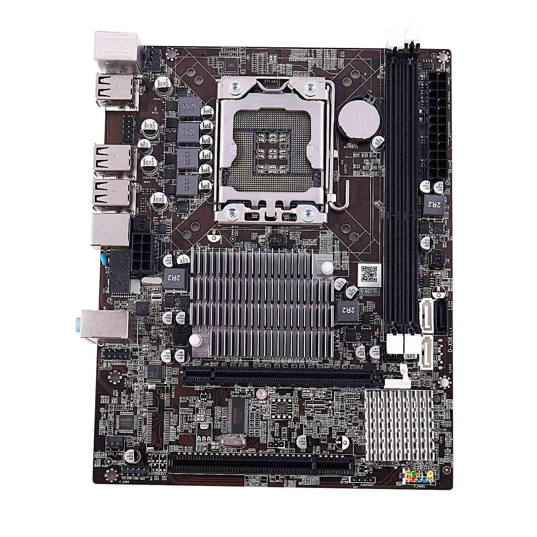 Cavis Scheda Madre CPU X58 CPU RAM Combinata LGA1366 Maindboard con Intel X5650 e 2-Ch 8G RAM ECC con Dispositivo di Raffreddamento