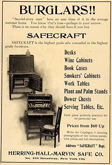 1906 Ad Herring Hall Marvin Safe Furniture Desk Cabinet   Original Print Ad