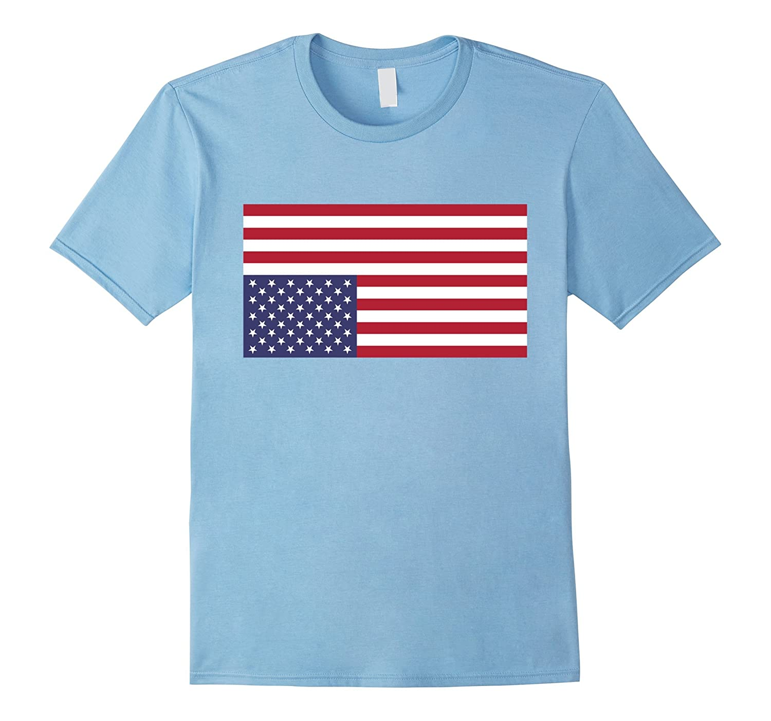 Upside Down American Flag US in Distress Tshirt