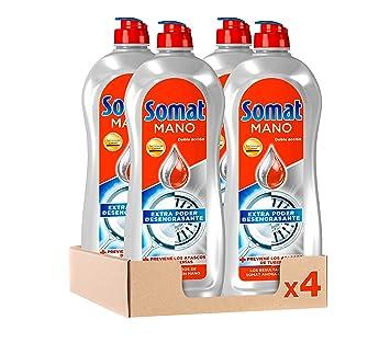 Somat Lavavajillas Mano Doble Acción - Pack de 4, Total 3.8 L ...