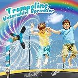 SOOFUN Trampoline Sprinkler for Kids Outdoor Play, Trampoline Accessories Sprinkler Water Park, Outdoor Trampoline Water Play