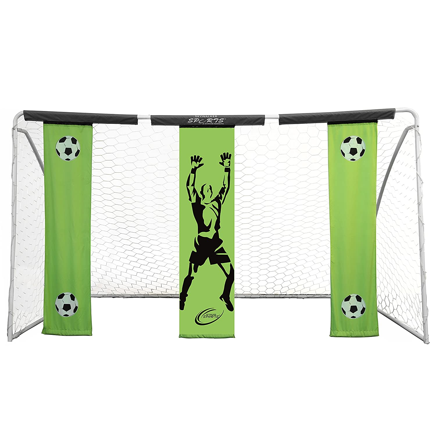 Skywalker Sports Soccer Goal with Practiceバナー B01FKXJ9QC 12' x 7'|グリーン グリーン 12' x 7'