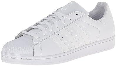 adidas Originals Men's Superstar Foundation Casual Sneaker, White/Running  White/White, 4