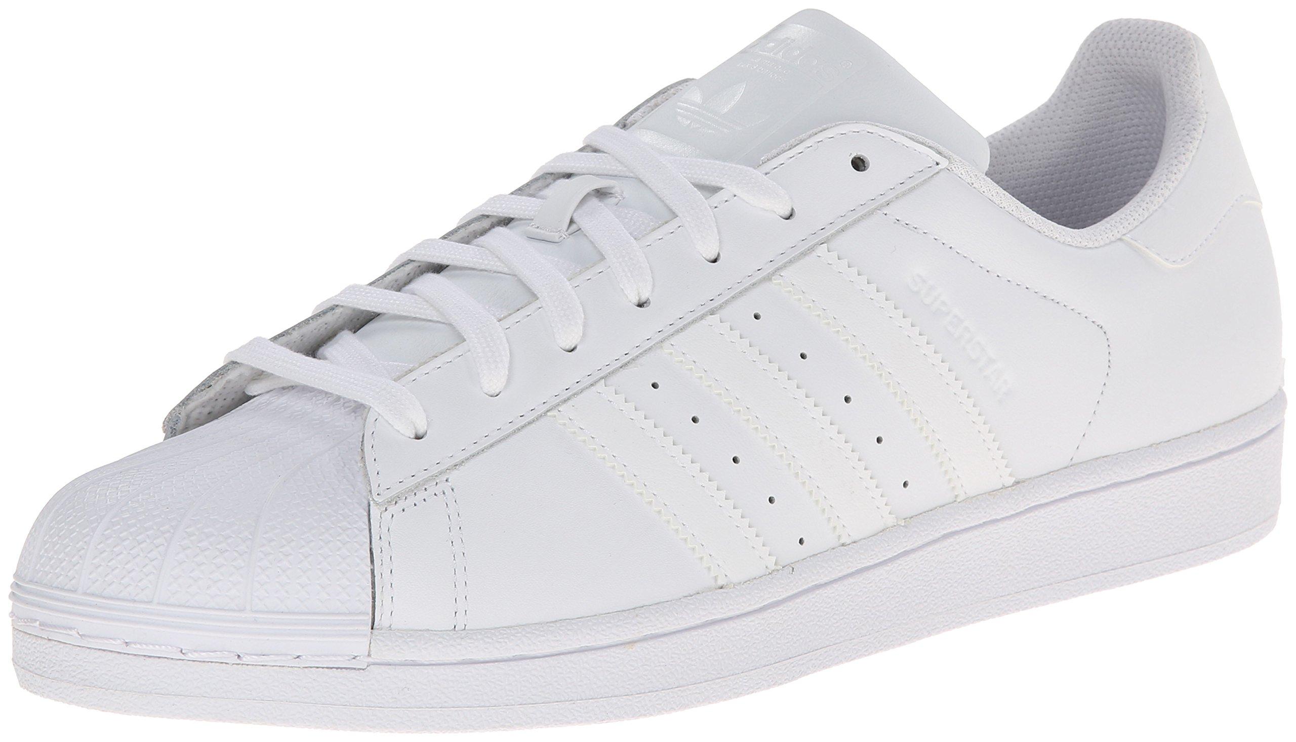 adidas Originals Men's Superstar Foundation Casual Sneaker, White/Running White/White, 17 D(M) US