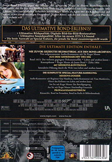 James Bond Leben Und Sterben Lassen 2 Dvds Amazonde