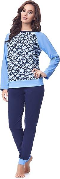TALLA S. Merry Style Pijama Conjunto Camiseta y Pantalones Mujer MS10-154