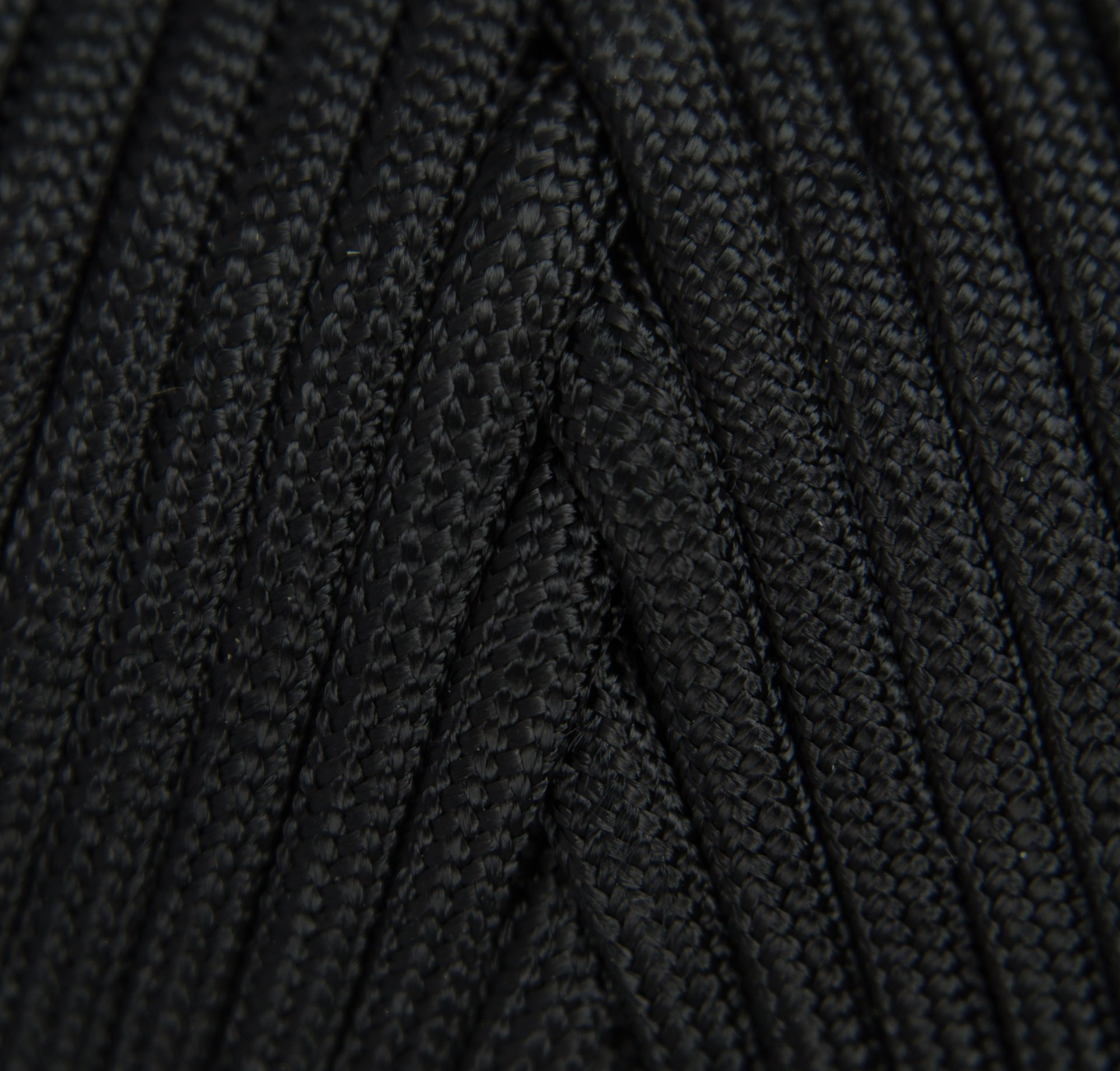 TOUGH-GRID 750lb Black Paracord/Parachute Cord - Genuine Mil Spec Type IV 750lb Paracord Used by The US Military (MIl-C-5040-H) - 100% Nylon - Made in The USA. 50Ft. - Black by TOUGH-GRID (Image #3)
