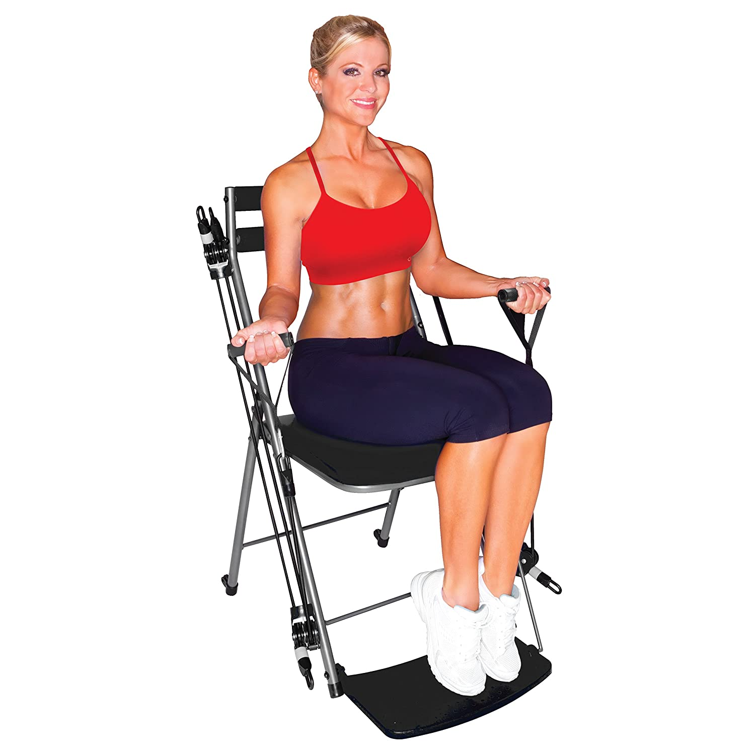amazoncom chair gym total body workout chair gym black sports outdoors