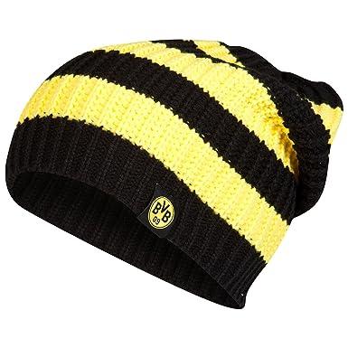 Borussia Dortmund Football Club BVB Striped Beanie Hat Headwear Yellow Black ed7e6800032