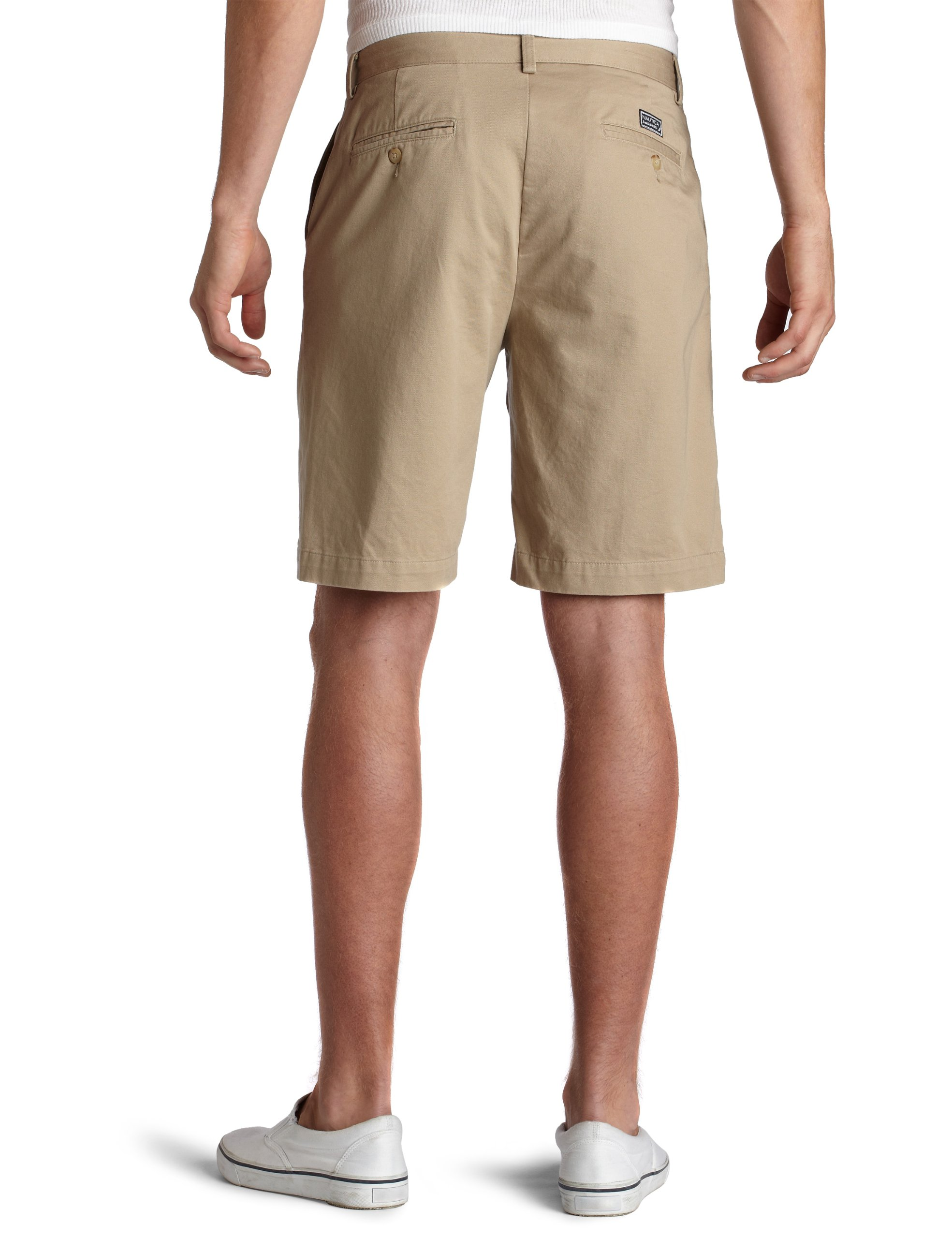 Nautica Men's Twill Flat Front Short,True Khaki,33 by Nautica (Image #2)